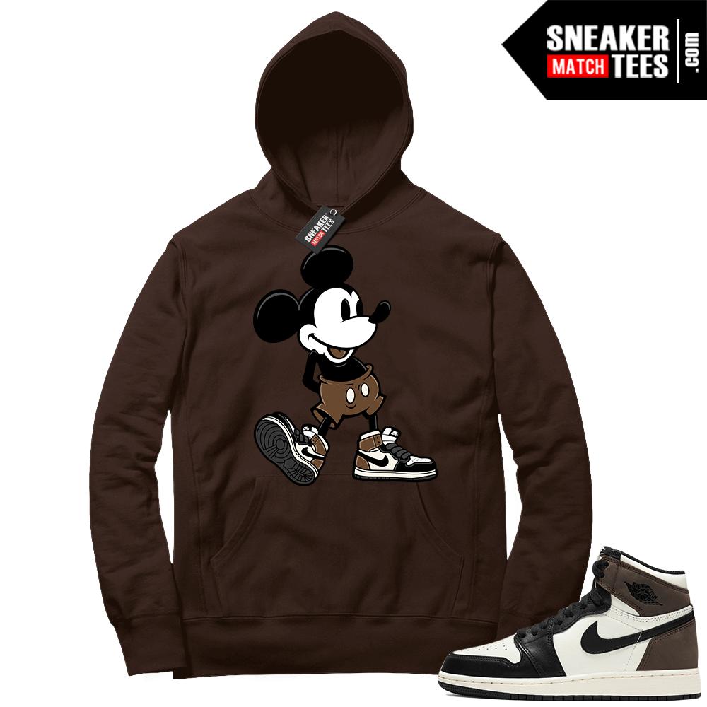 Jordan 1 Mocha Hoodie Sneakerhead Mickey