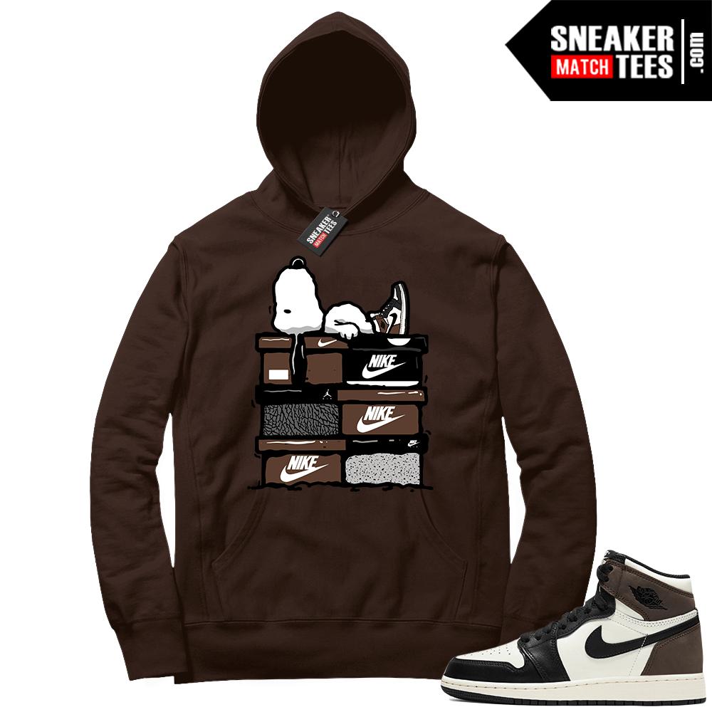 Jordan 1 Mocha Hoodie Snoopy Sneakerhead