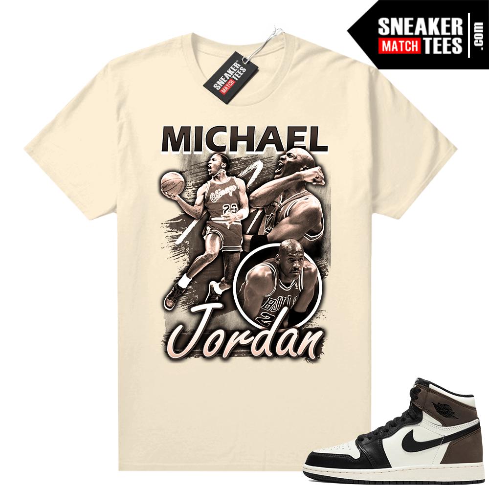 Jordan 1 Mocha shirts Sail MJ Vintage