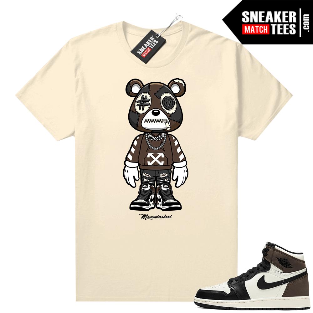 Jordan 1 Mocha shirts Sail Misunderstood Bear toon