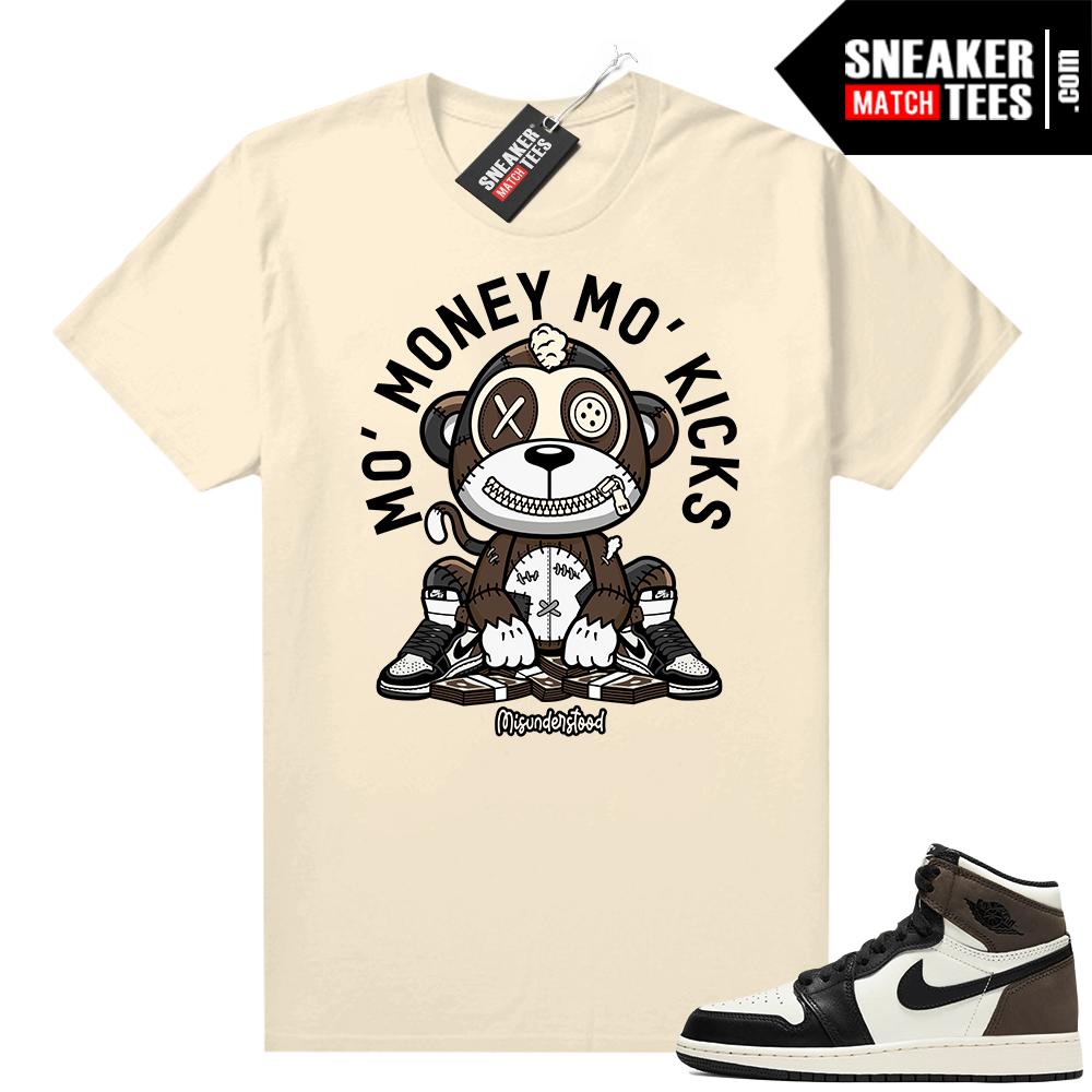Jordan 1 Mocha shirts Sail Misunderstood Monkey Mo Kicks