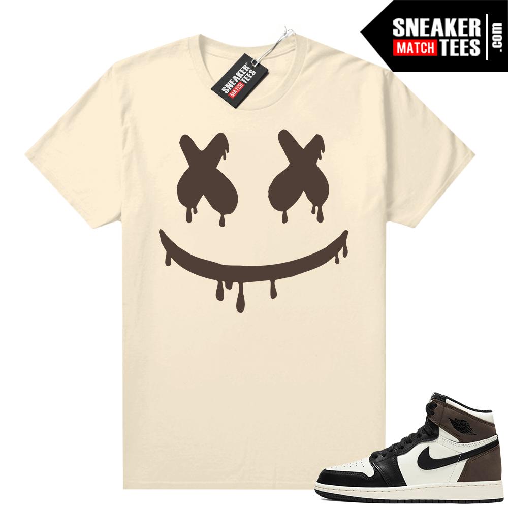 Jordan 1 Mocha shirts Sail Smiley Drip