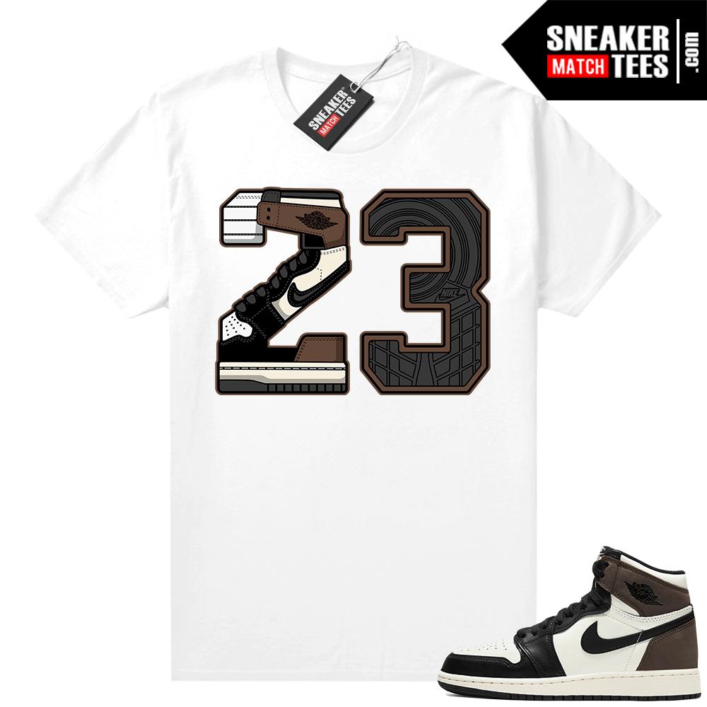 Jordan 1 Mocha shirts White 23