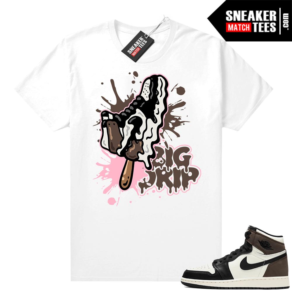 Jordan 1 Mocha shirts White Big Drip