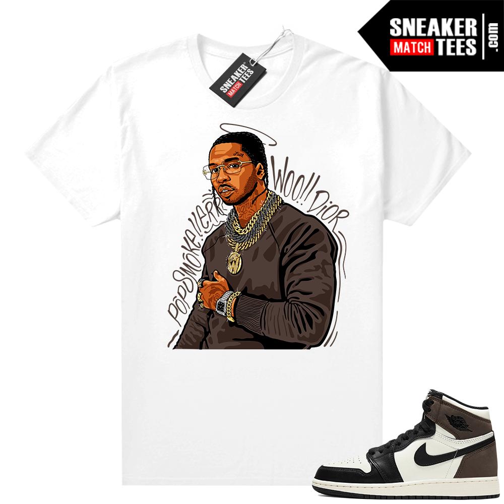 Jordan 1 Mocha shirts White Pop Smoke Tribute