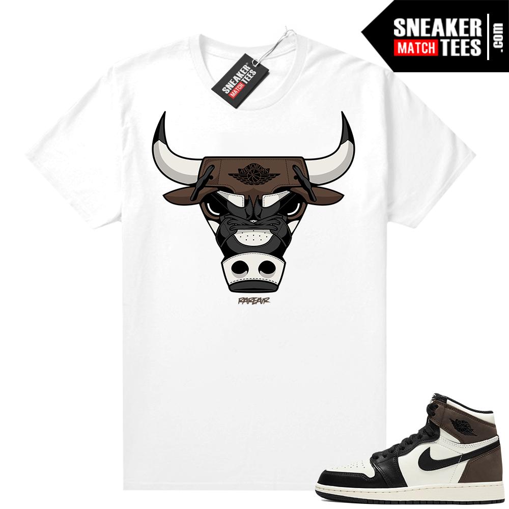 Jordan 1 Mocha shirts White Rare Air Bull