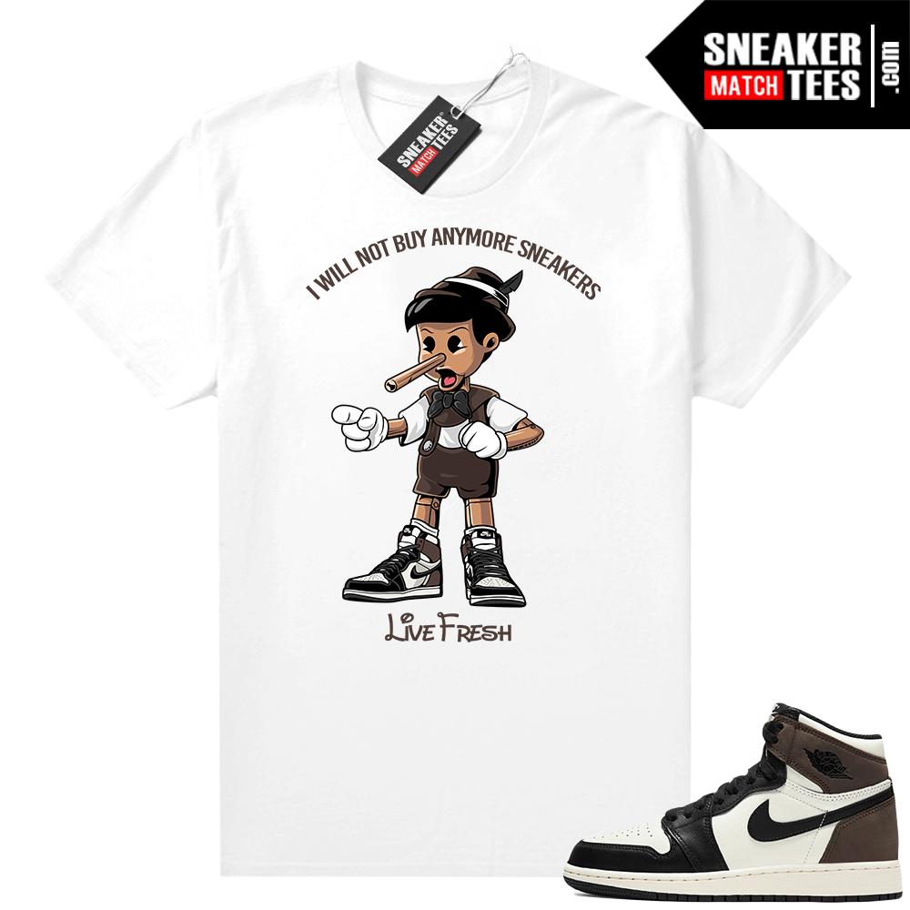Jordan 1 Mocha shirts White Sneakerhead Pinocchio