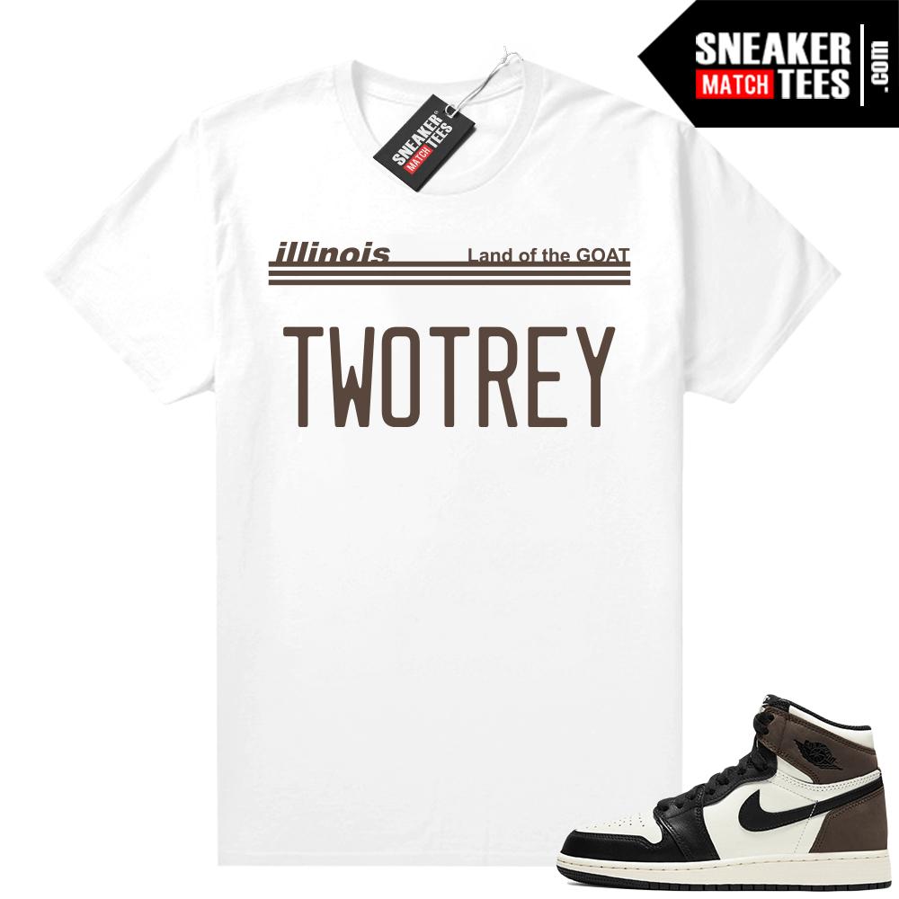 Jordan 1 Mocha shirts White TWO TREY