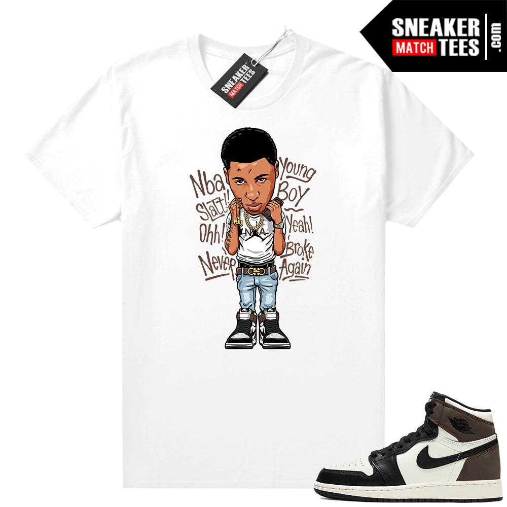 Jordan 1 Mocha shirts White Youngboy NBA