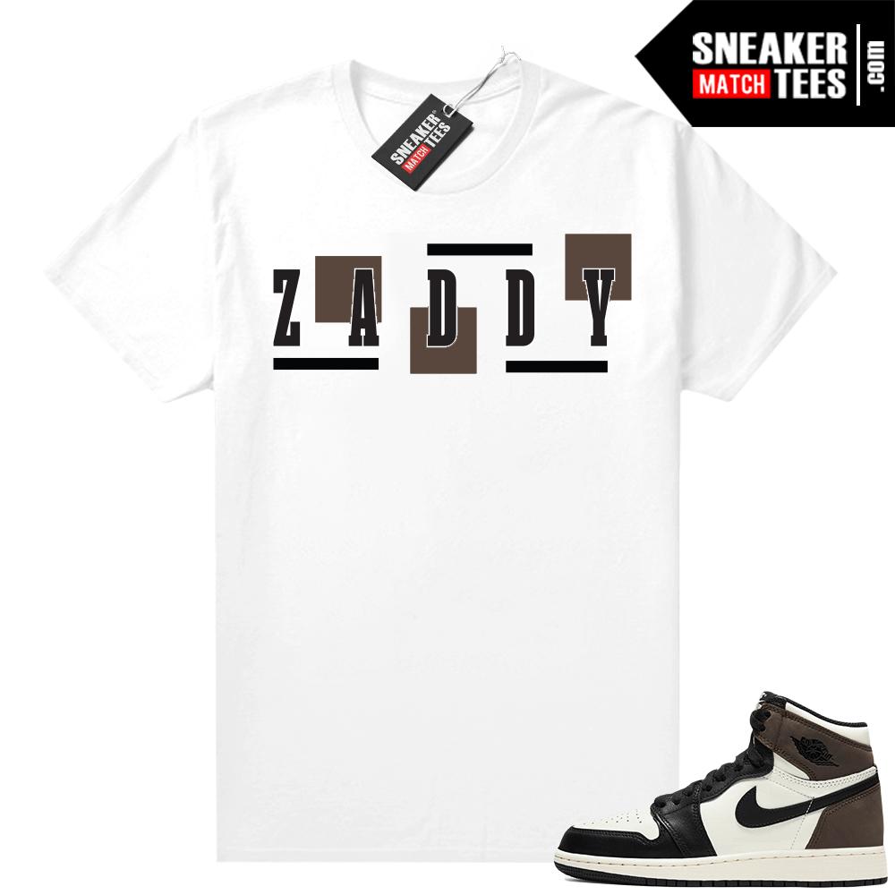 Jordan 1 Mocha shirts White ZADDY