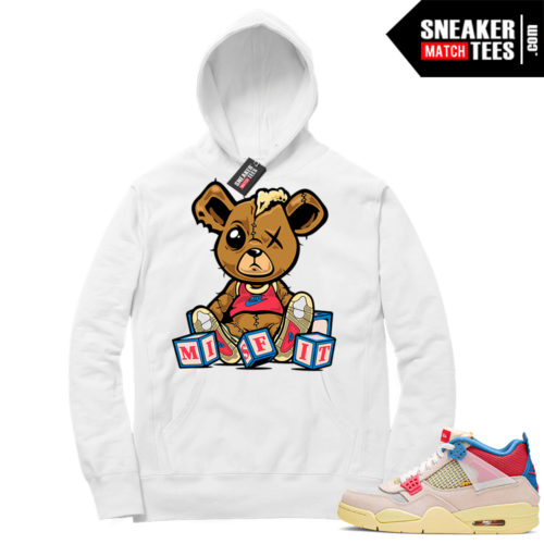 Match Jordan 4 Union OFF Noir Sneaker Match Hoodie Misunderstood Bear Navy