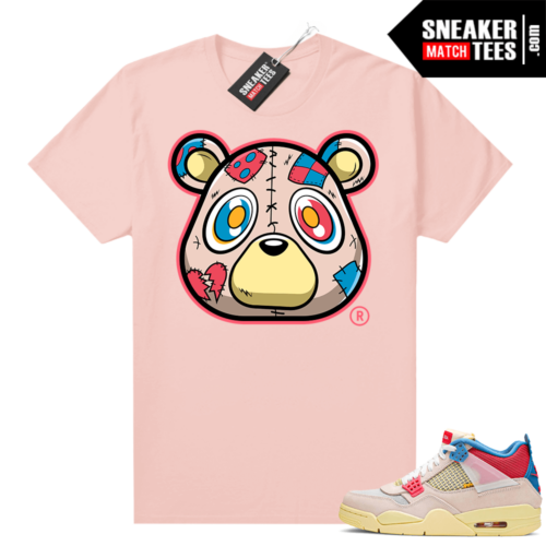 Union 4s Guava Ice sneaker tees