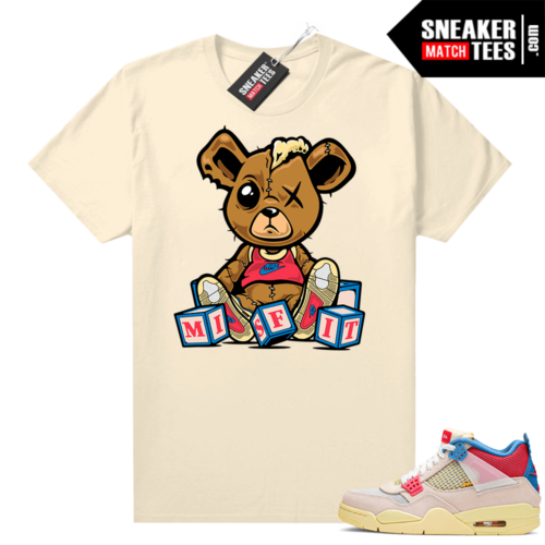 Union 4s Guava Ice sneaker tee