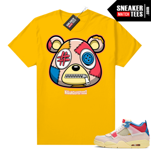 Union 4s Guava Ice matching sneaker tees