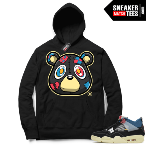Match Jordan 4 Union OFF Noir Sneaker Match Hoodie Heartless Bear Black