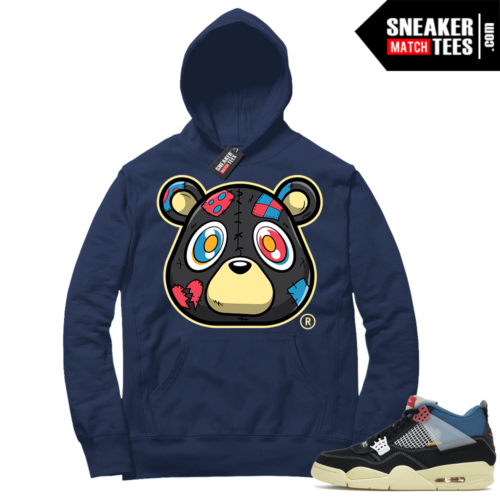 Match Jordan 4 Union OFF Noir Sneaker Match Hoodie Heartless Bear Navy