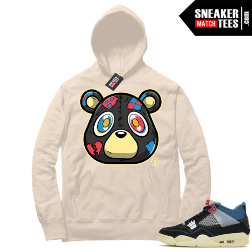 Match Jordan 4 Union OFF Noir Sneaker Match Hoodie Heartless Bear Sail
