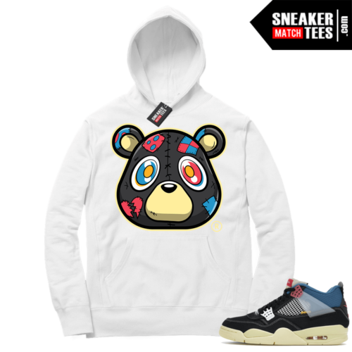 Match Jordan 4 Union OFF Noir Sneaker Match Hoodie Heartless Bear White