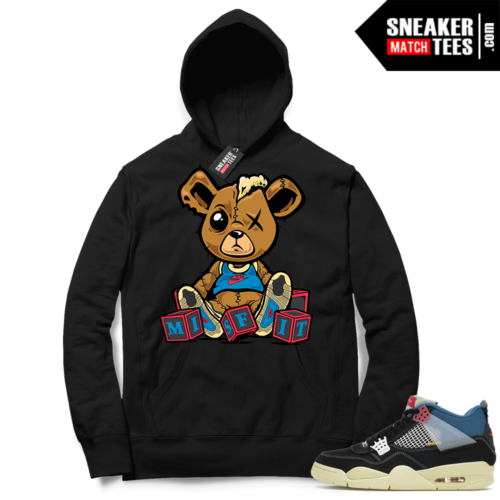 Match Jordan 4 Union OFF Noir Sneaker Match Hoodie Misfit Teddy Black