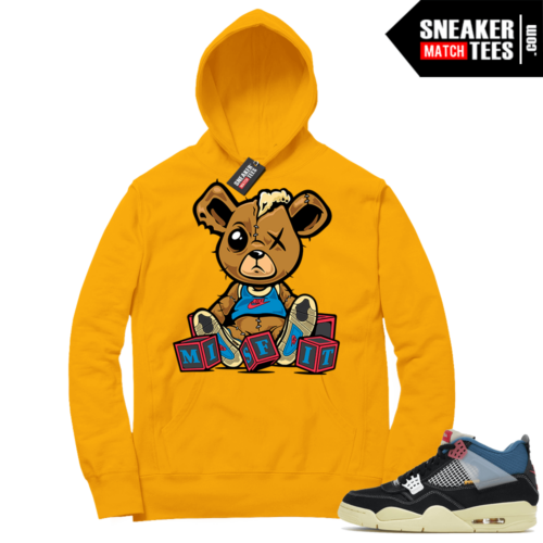 Match Jordan 4 Union OFF Noir Sneaker Match Hoodie Misfit Teddy Gold
