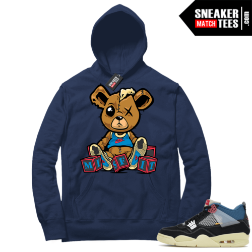Match Jordan 4 Union OFF Noir Sneaker Match Hoodie Misfit Teddy Navy