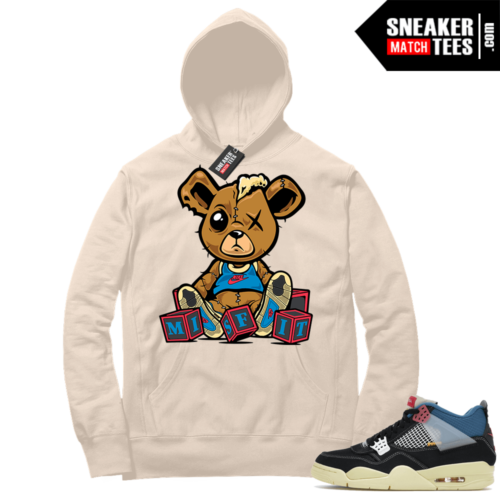Match Jordan 4 Union OFF Noir Sneaker Match Hoodie Misfit Teddy Sail