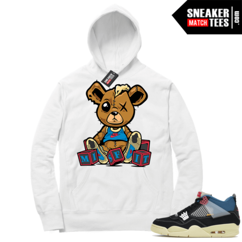 Match Jordan 4 Union OFF Noir Sneaker Match Hoodie Misfit Teddy White