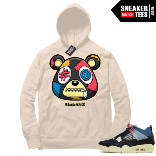 Match Jordan 4 Union OFF Noir Sneaker Match Hoodie Misunderstood Bear Sail