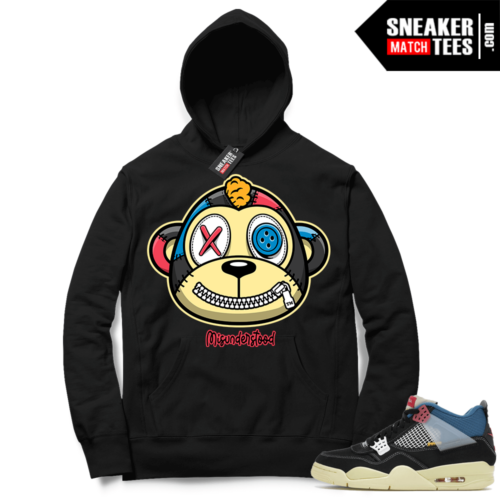 Match Jordan 4 Union OFF Noir Sneaker Match Hoodie Misunderstood Monkey Black