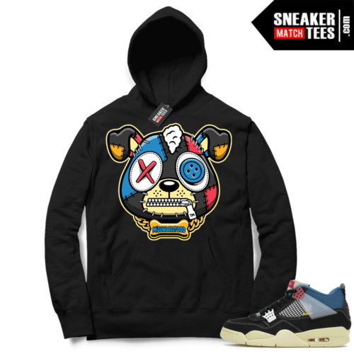 Match Jordan 4 Union OFF Noir Sneaker Match Hoodie Misunderstood Puppy Black