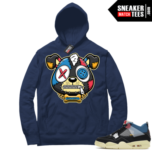Match Jordan 4 Union OFF Noir Sneaker Match Hoodie Misunderstood Puppy Navy
