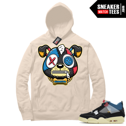 Match Jordan 4 Union OFF Noir Sneaker Match Hoodie Misunderstood Puppy Sail