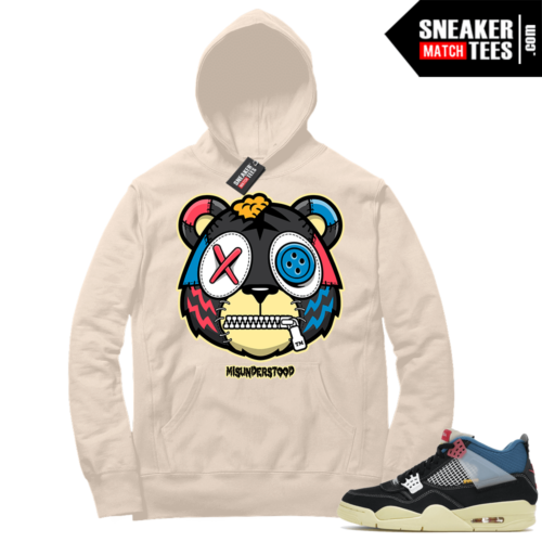 Match Jordan 4 Union OFF Noir Sneaker Match Hoodie Misunderstood Tiger Sail