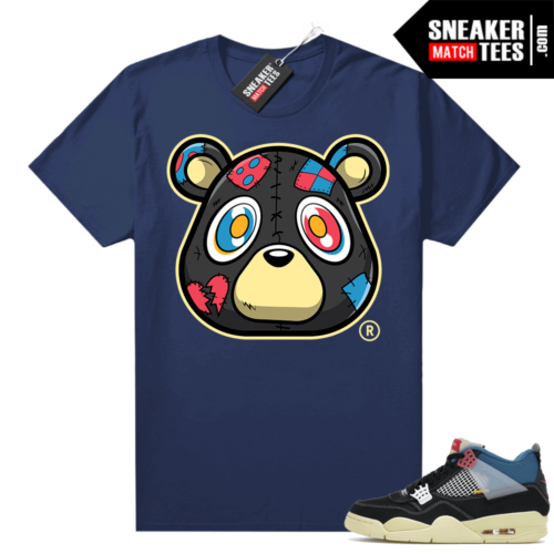 Match Jordan 4 Union OFF Noir Sneaker Match Tees Heartless Bear Navy