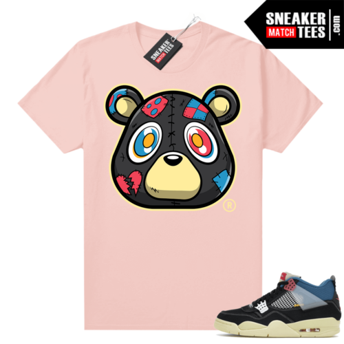 Match Jordan 4 Union OFF Noir Sneaker Match Tees Heartless Bear Pink