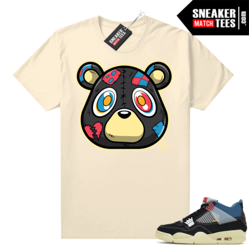Match Jordan 4 Union OFF Noir Sneaker Match Tees Heartless Bear Sail