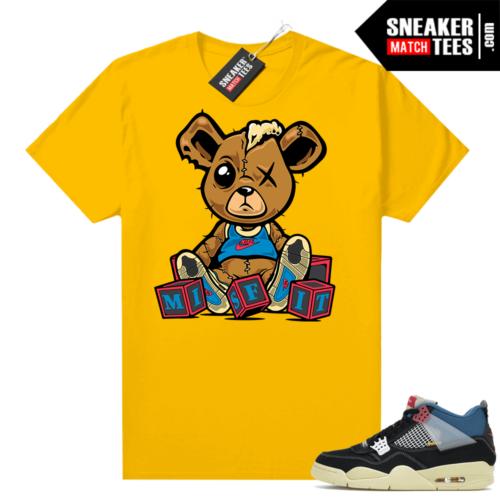 Match Jordan 4 Union OFF Noir Sneaker Match Tees Misfit Teddy Gold