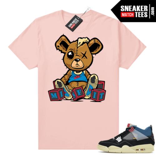 Match Jordan 4 Union OFF Noir Sneaker Match Tees Misfit Teddy Pink