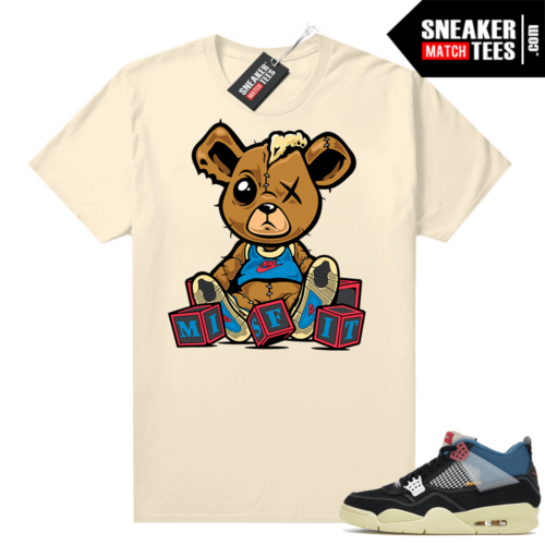 Match Jordan 4 Union OFF Noir Sneaker Match Tees Misfit Teddy Sail