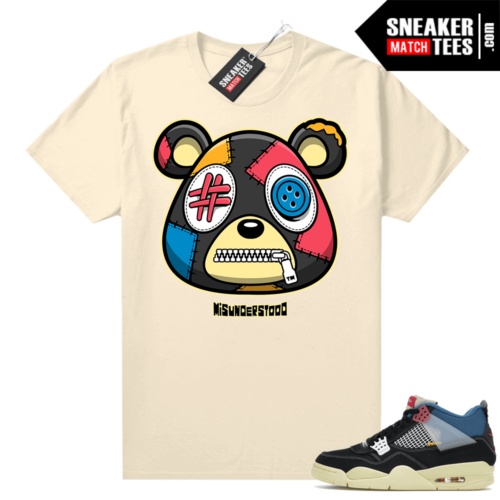Match Jordan 4 Union OFF Noir Sneaker Match Tees Misunderstood Bear Sail