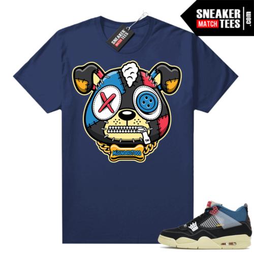 Match Jordan 4 Union OFF Noir Sneaker Match Tees Misunderstood Puppy Navy