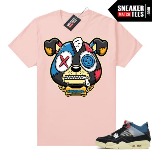 Match Jordan 4 Union OFF Noir Sneaker Match Tees Misunderstood Puppy Pink