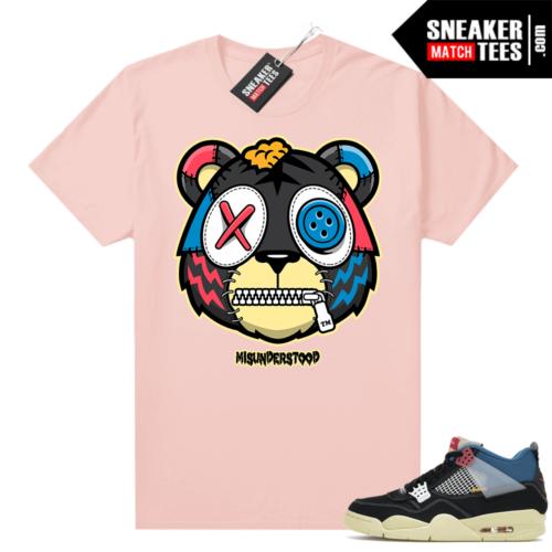 Match Jordan 4 Union OFF Noir Sneaker Match Tees Misunderstood Tiger Pink