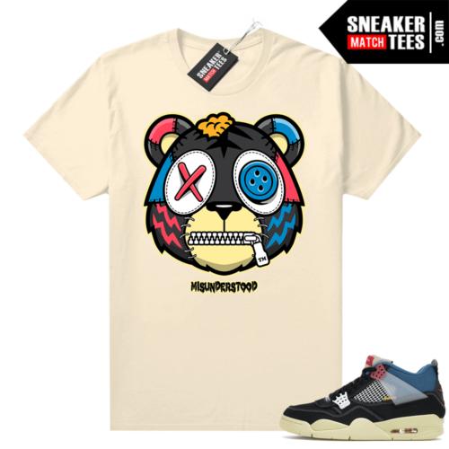 Match Jordan 4 Union OFF Noir Sneaker Match Tees Misunderstood Tiger Sail