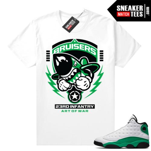 Match Lucky Green 13s Jordan Match Tees Shirt White 23rd Infantry