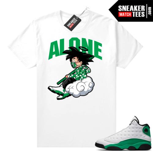 Match Lucky Green 13s Jordan Match Tees Shirt White Alone