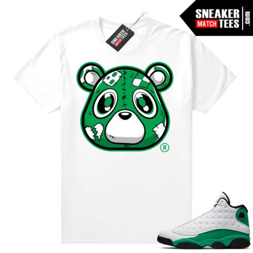 Match Lucky Green 13s Jordan Match Tees Shirt White Heartless Bear