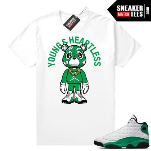 Match Lucky Green 13s Jordan Match Tees Shirt White Heartless Bear Toon