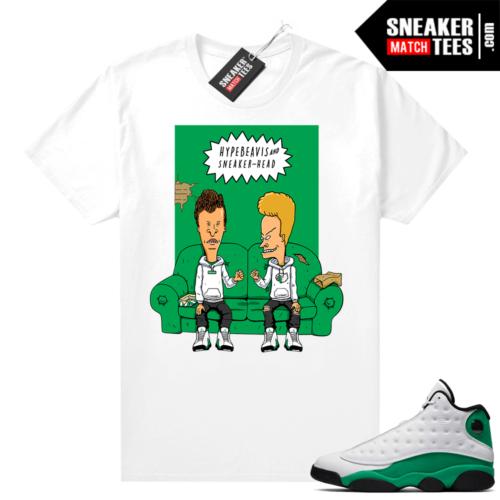 Match Lucky Green 13s Jordan Match Tees Shirt White Hype Beavis and Sneaker-head