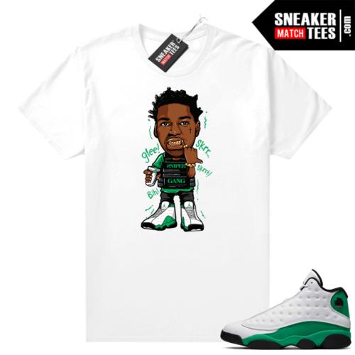 Match Lucky Green 13s Jordan Match Tees Shirt White Kodak Glee